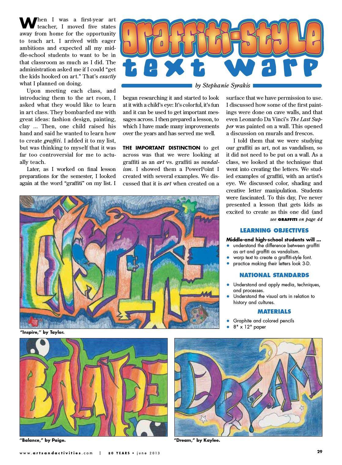 Warp Art Graffiti Arts Amp Activities