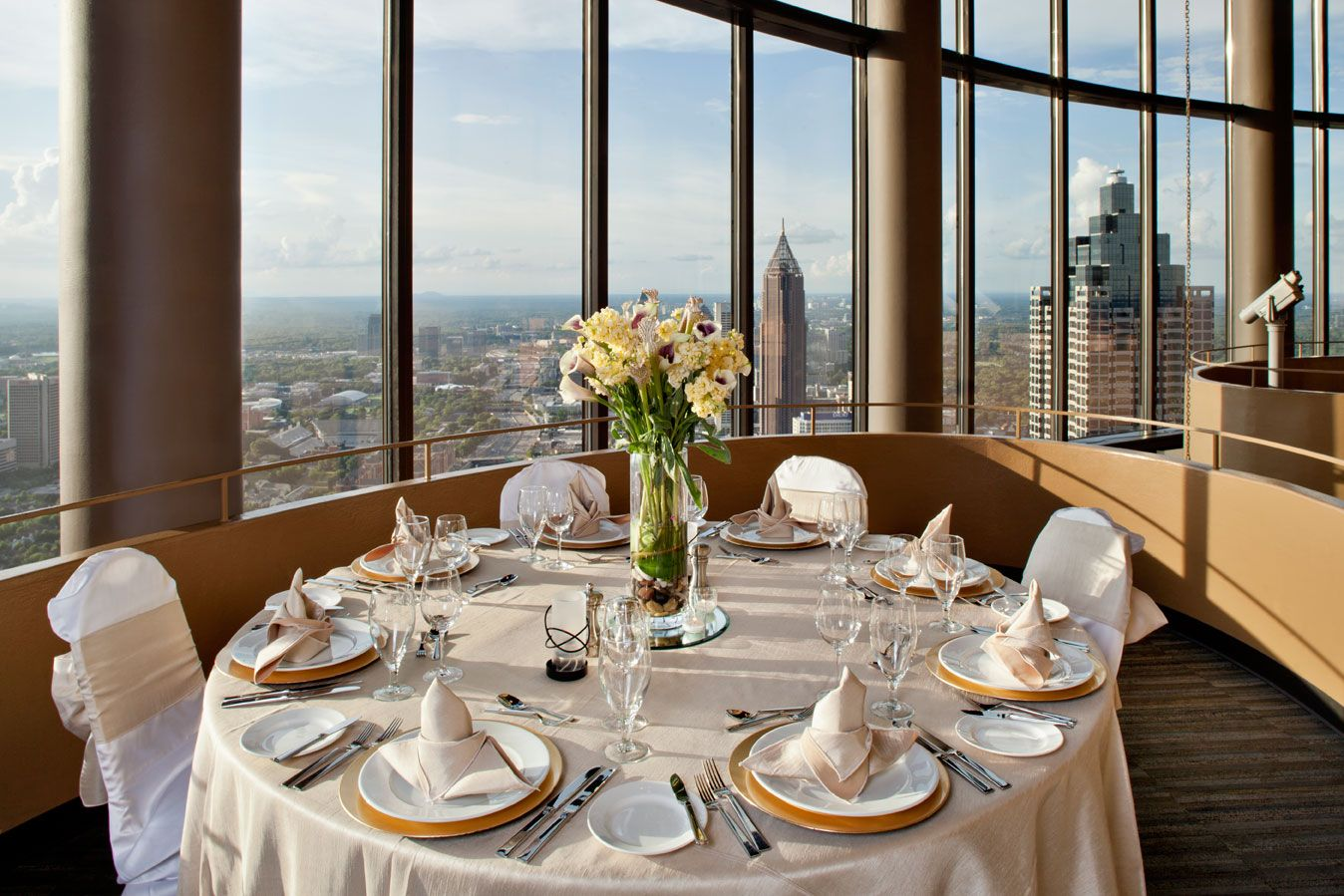 The Sun Dial Restaurant Sits Atop The Westin Peachtree Plaza