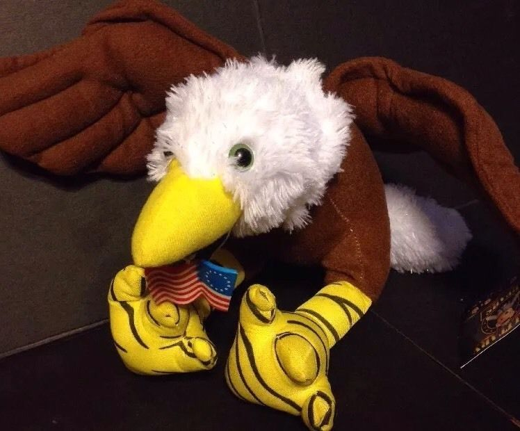 Bald Eagle Plush Military Bears Colonial American Flag Patriotic July 4th…