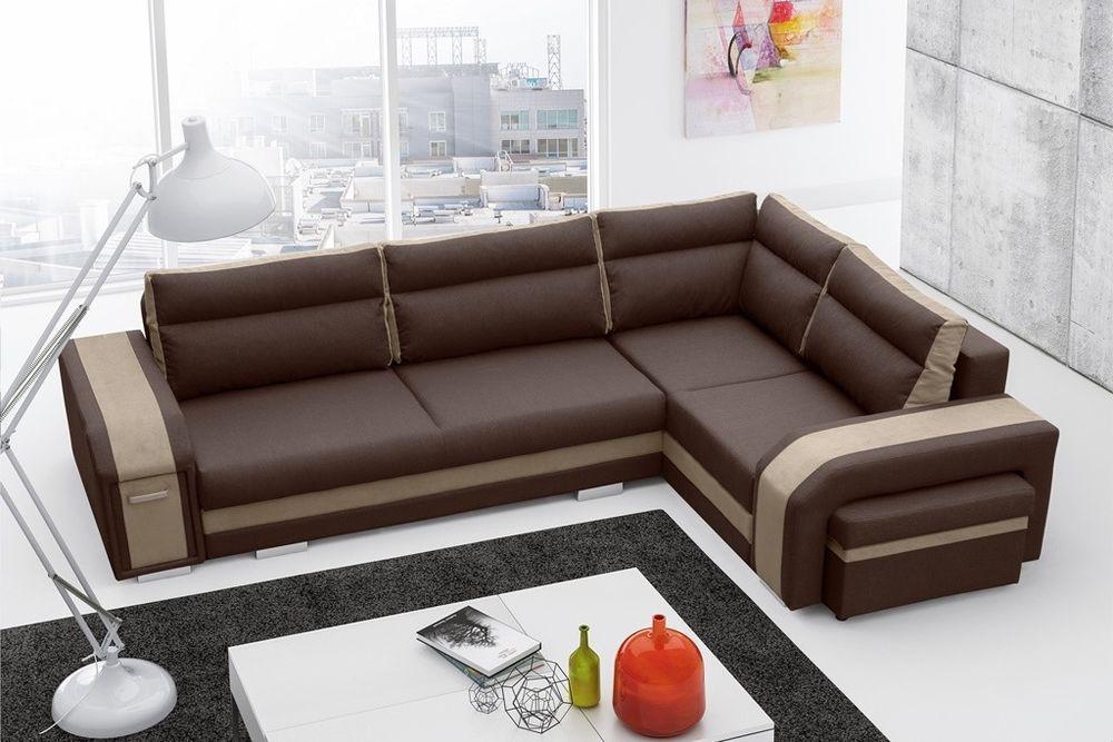 Details zu Couch Sofa Couchgarnitur ASSAN L Polesterecke mit - big sofa oder wohnlandschaft