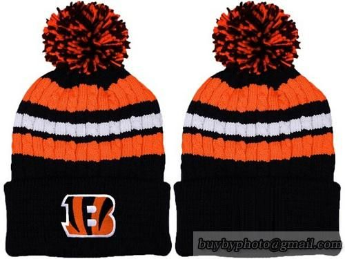 7b2d951d9bb NFL Cincinnati Bengals Beanies Knit Hats Caps White Stripe Warm Winter Caps  Denver Broncos Hats