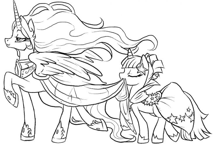 My Little Pony Anime Coloring Pages : Cute coloring page for girl of my little pony