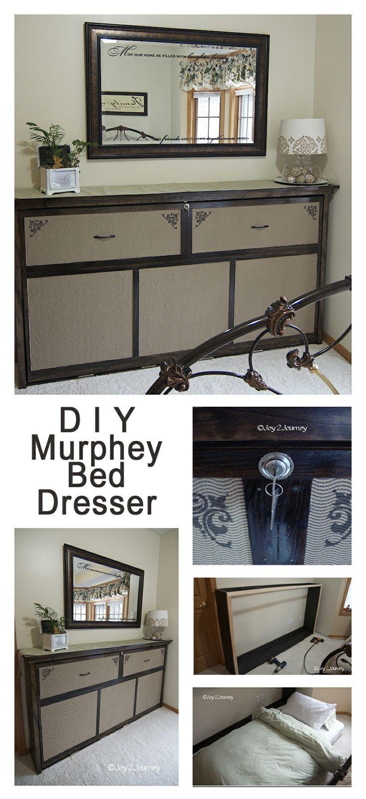 DIY Murphey Bed Faux Dresser Great idea to turn a murphy bed on it\'s ...