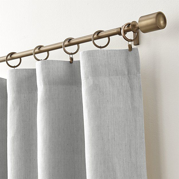 Shop Largo Grey Linen Curtain Panels Made Of Heavier Weighted