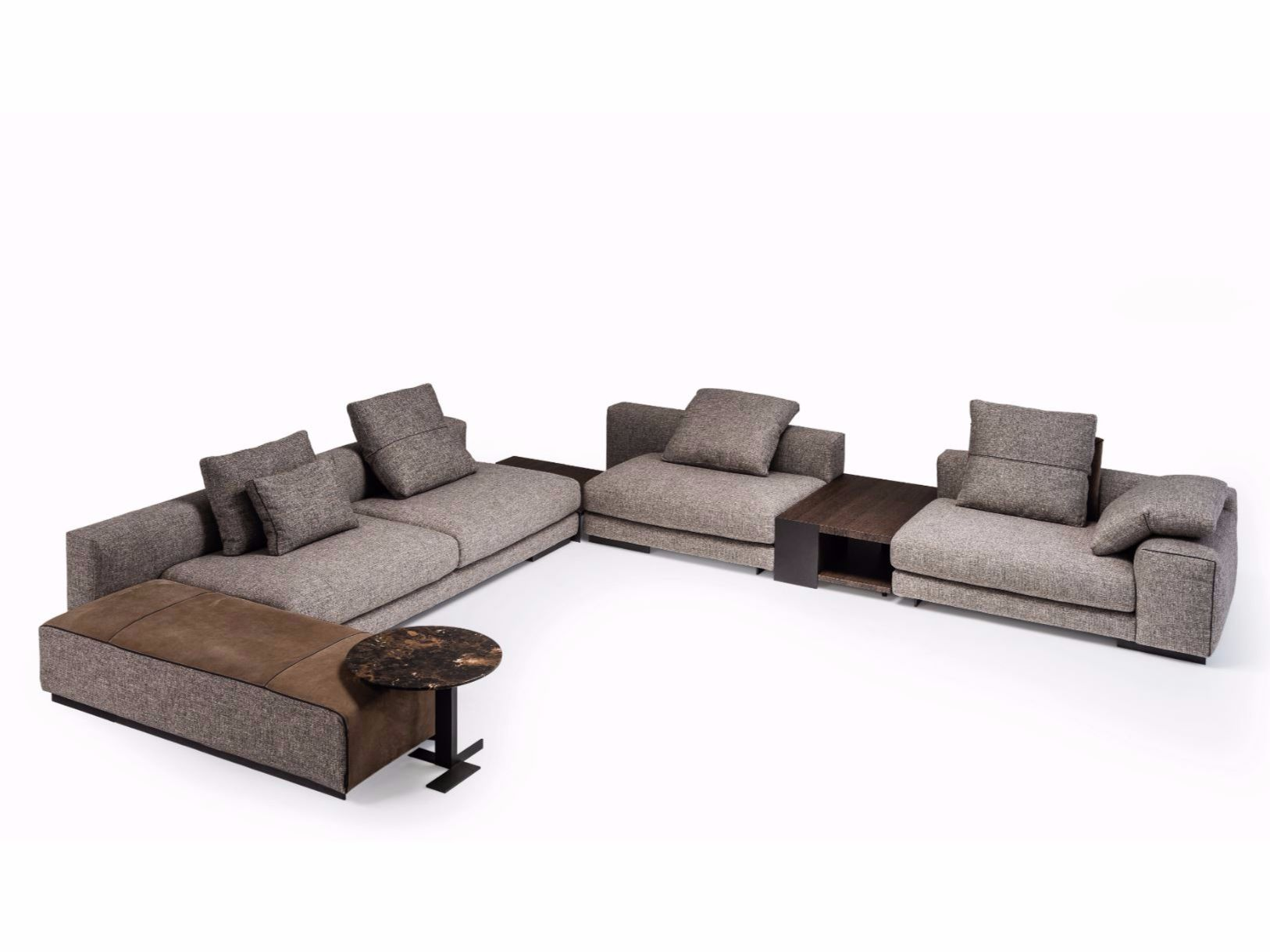 Canapé Modulable Atlas Corner Sectional Fabric Sofa Atlas Collection By Arketipo