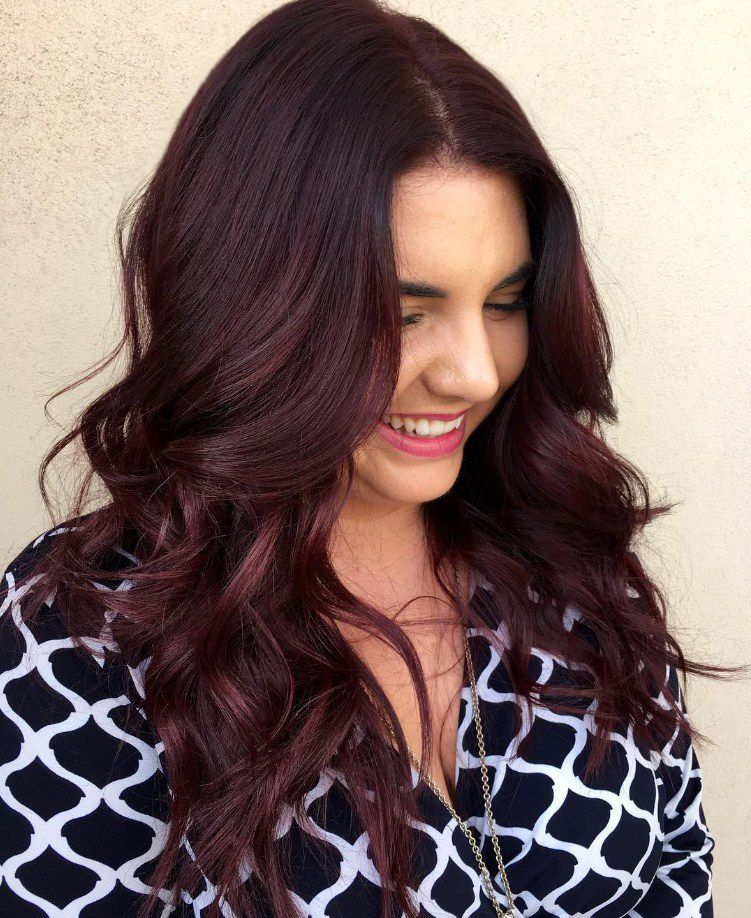 Pin By Rayssa Bralle On Curly Hair Dark Red Hair Color Deep Red Hair Hair Color Dark