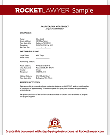 Sample Partnership Agreement  Jungle    Template