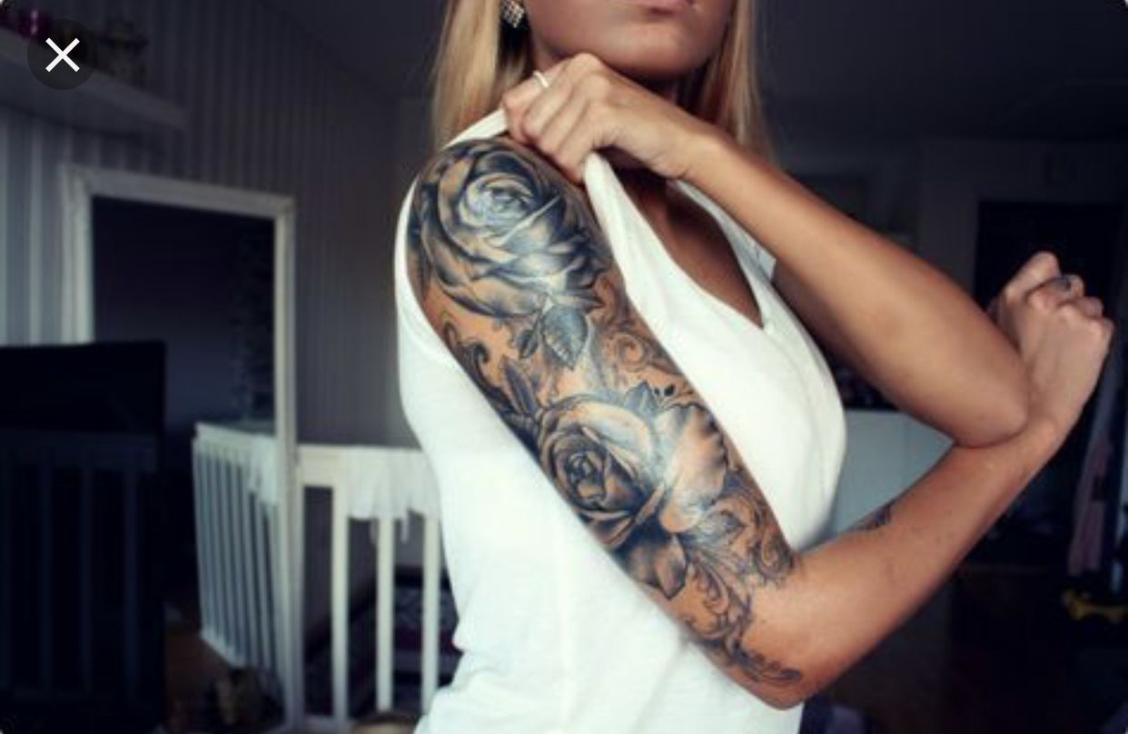 Floral Half Sleeve Tattoos For Women With Images Half Sleeve