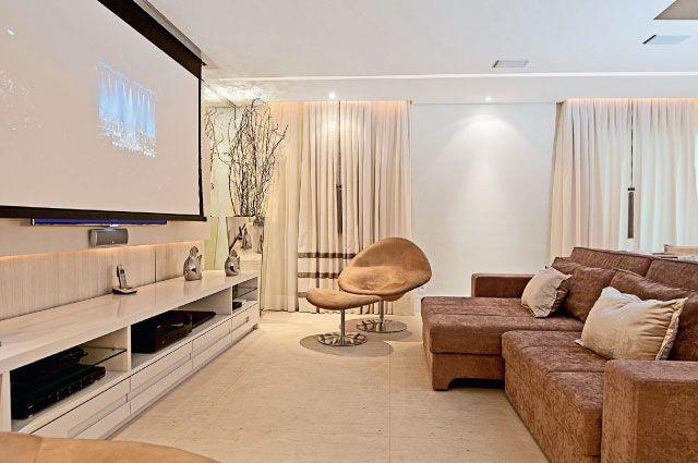 Salas de tv sofisticadas e charmosas interiores - Paredes decoradas modernas ...
