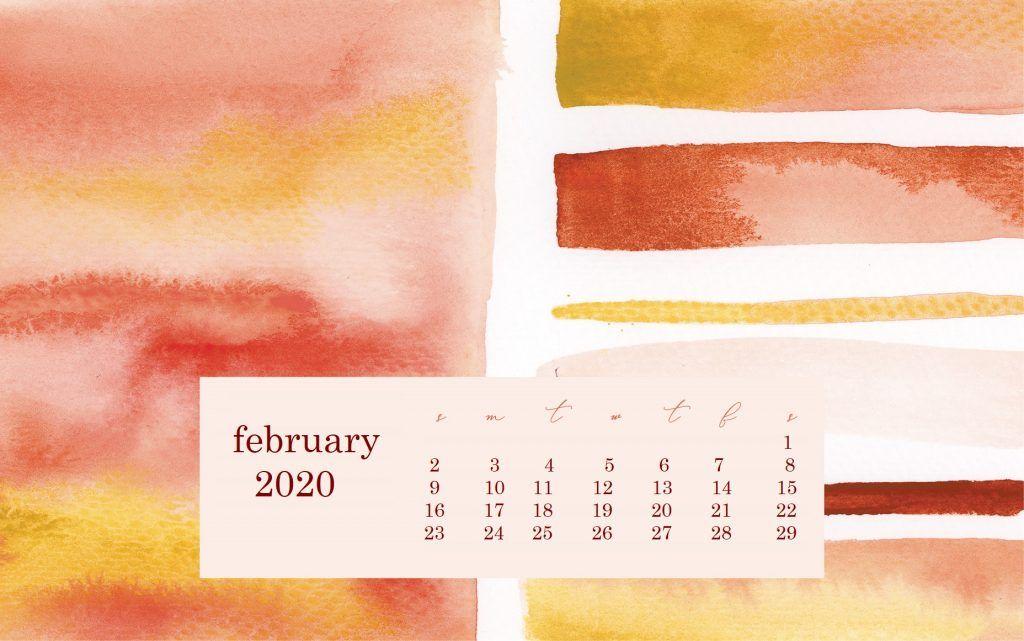 Monthly 2020 Desktop Calendar Wallpaper | Desktop ...