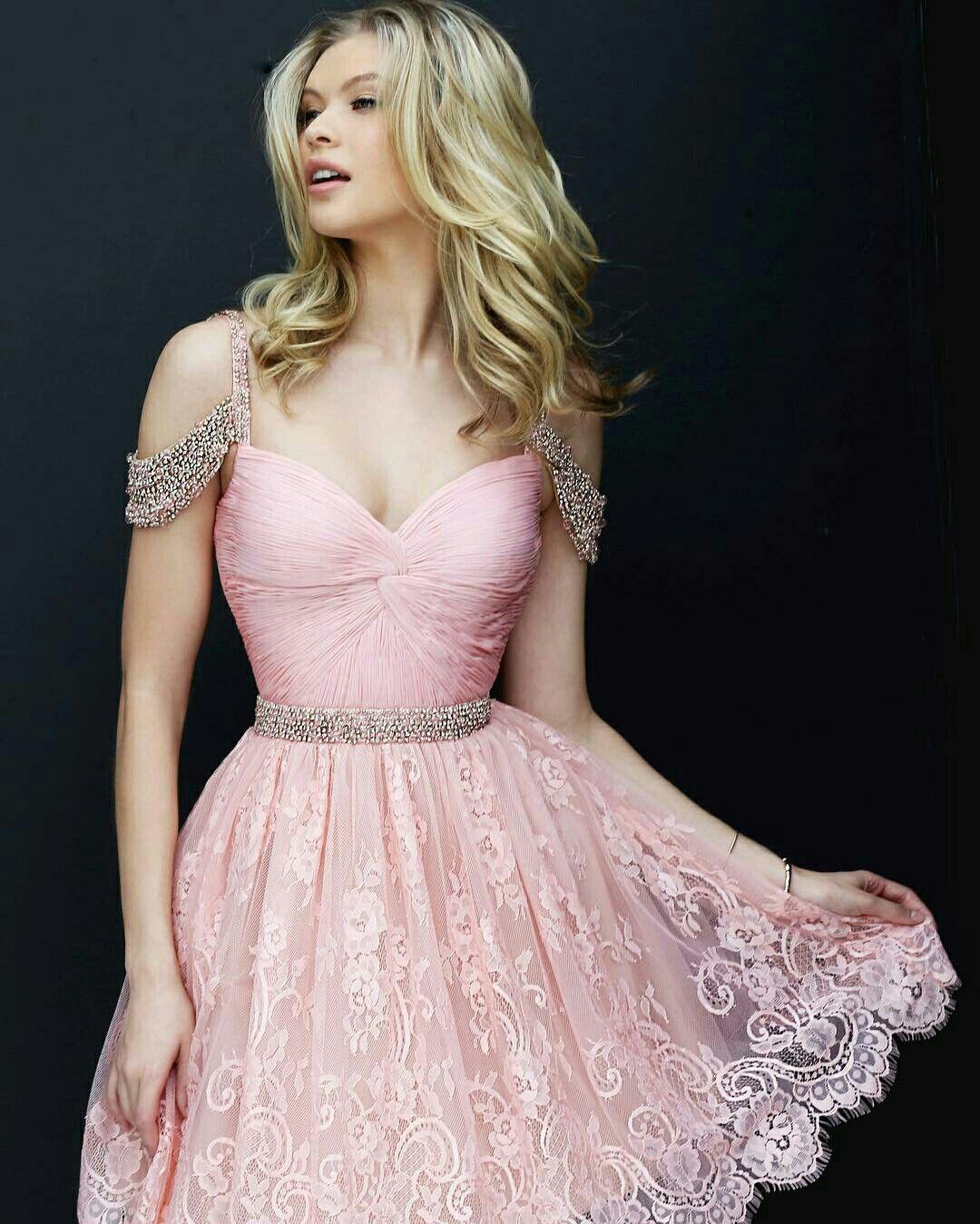 Prom dresses Lace Blush Sherri Hill 50503 Short A Line Homecoming Dress
