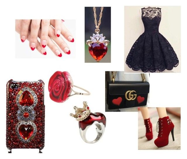 Red queen by thyra-dahl on Polyvore featuring Mode, Sian Bostwick Jewellery and Disney