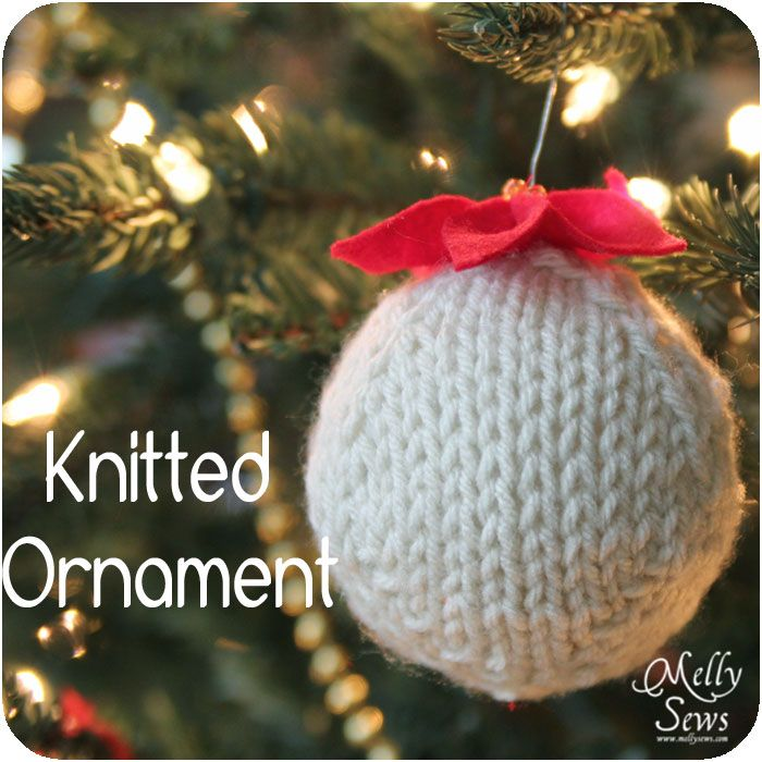 Hand Knitted Ornament - DIY Tutorial with Free Pattern | Handmade ...