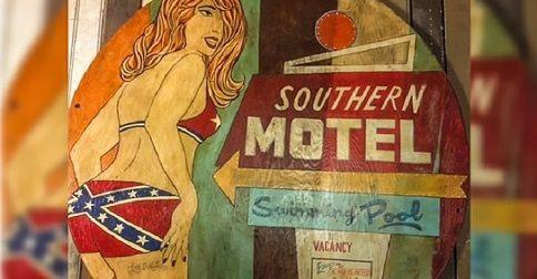 Nashville tourist bar removes pinup girl wearing Confederate flag bikini art after Facebook brouhaha
