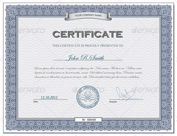 Detailed certificate Certificate, Text fonts and Fonts - new certificate of recognition template word