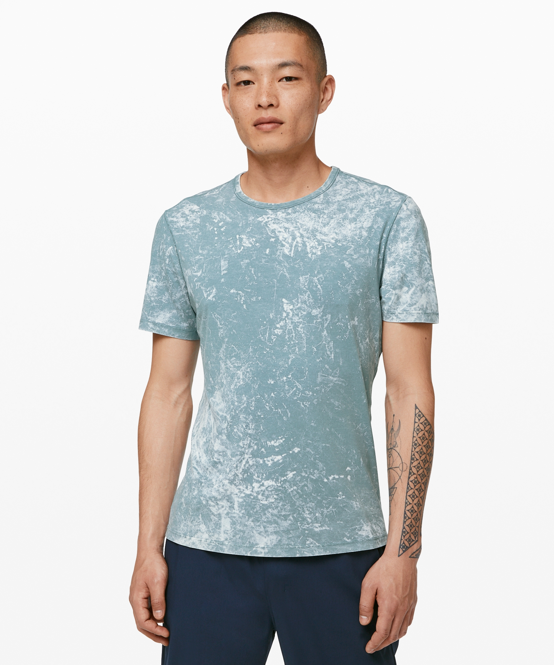 lululemon Men's 5 Year Basic Tee, Cloudy Wash Aquatic