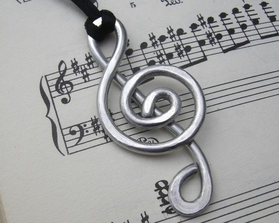 Big Treble Clef Pendant Necklace G Clef, Music Gift, Music Jewelry, Music Note Necklace Musician Gift, Treble Clef Jewelry, Music Necklace #trebleclef