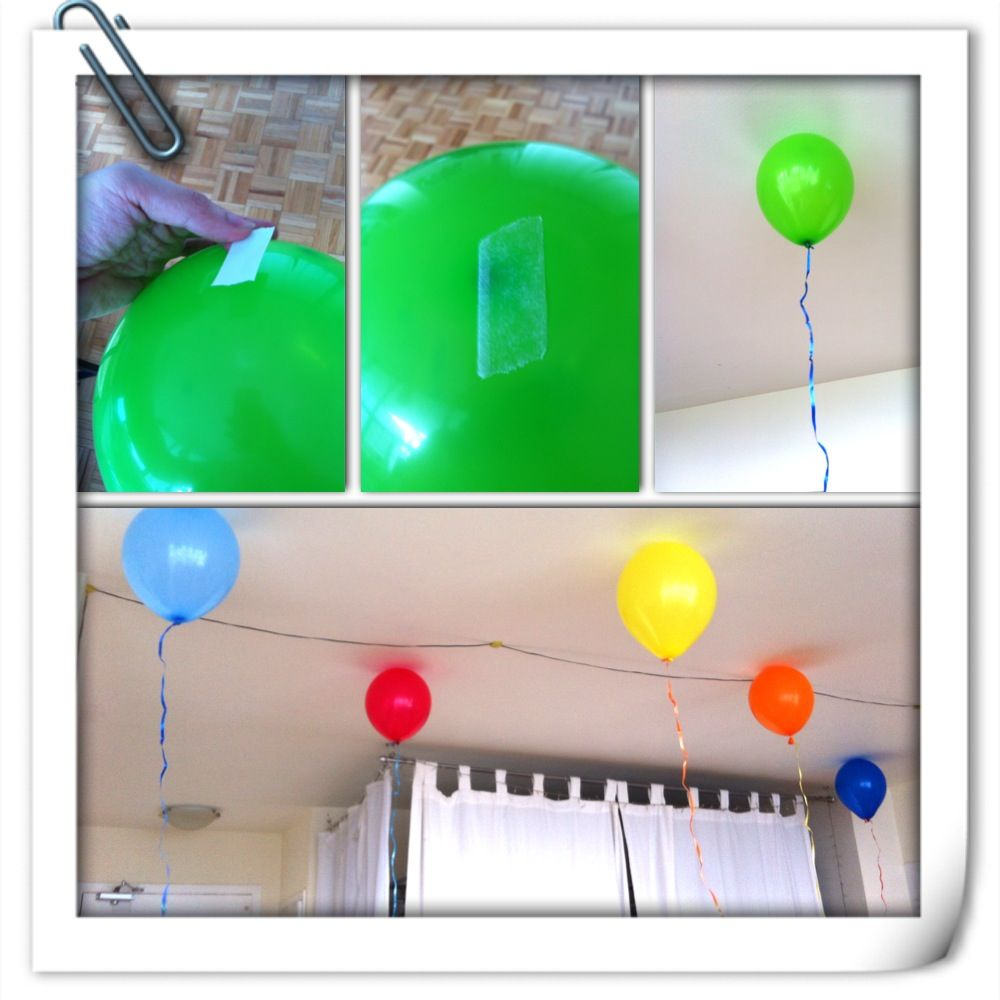 "Simple trick to make balloon ""fly"" without helium: use ..."