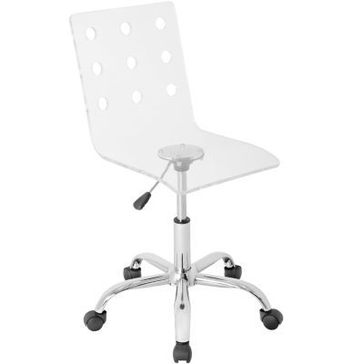 Enjoyable Swiss Adjustable Office Chair With Swivel In Clear Acrylic Alphanode Cool Chair Designs And Ideas Alphanodeonline