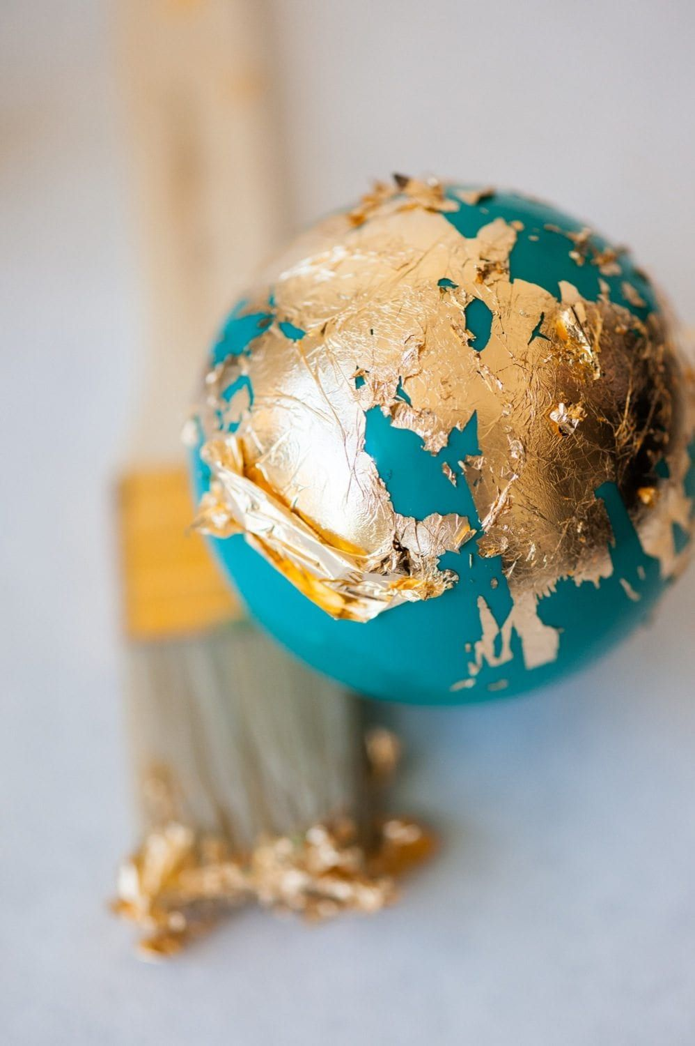 DIY Painted Gold Leaf Ornaments -   24 diy painting gold