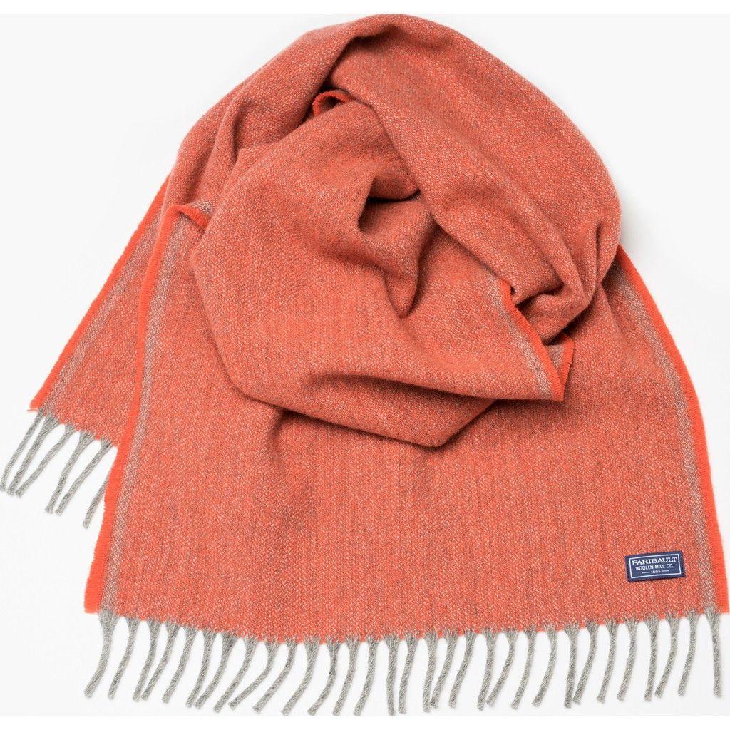Faribault Ashby Twill Wool Scarf | Terracotta