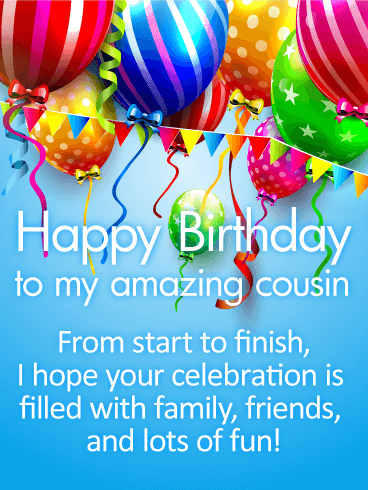 Birthday Wishes For Cousin With Images Szuletesnap