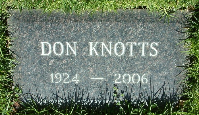 Don Knotts Gravesite Tombstones And Cemeteries