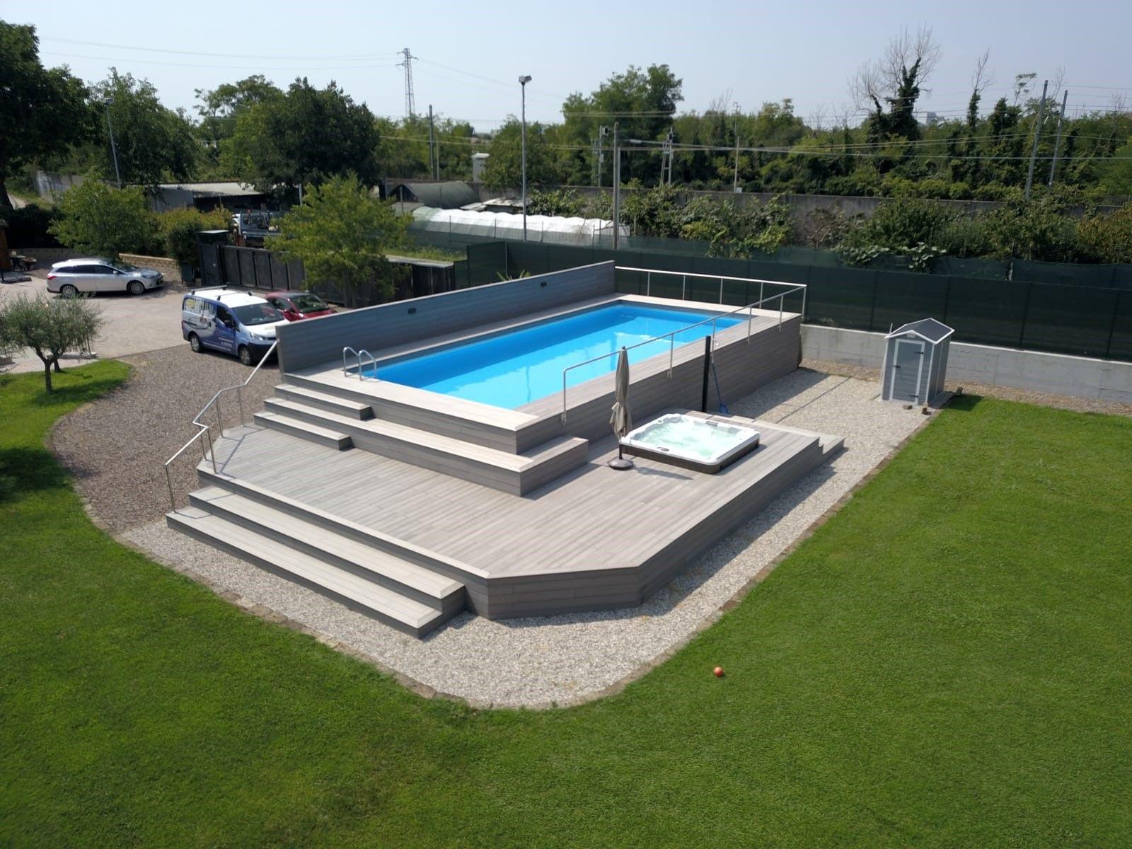 Piscine Da Esterno Rivestite In Legno le 48 più belle piscine fuori terra rivestite piscine (con