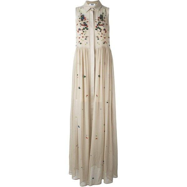205a17d0a86a6 MSGM Embellished Shirt Evening Dress ( 1