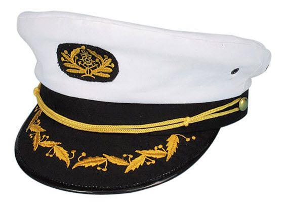 Navy Captain Hat | 70's roller disco | Halloween costume