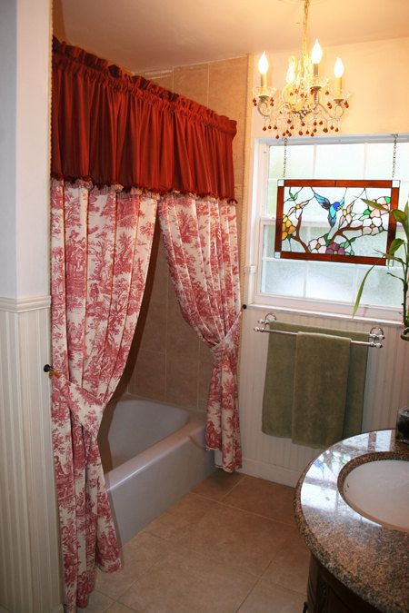 French Country Toile Shower Curtain Or Window By MaribelClaribel 16000
