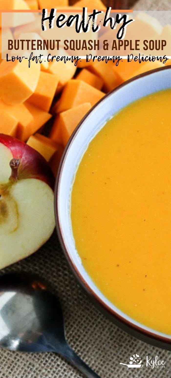 Thick, creamy, and absolutely fantastic, this Butternut Squash and Apple Soup is...,  Thick, creamy, and absolutely fantastic, this Butternut Squash and Apple Soup is...,
