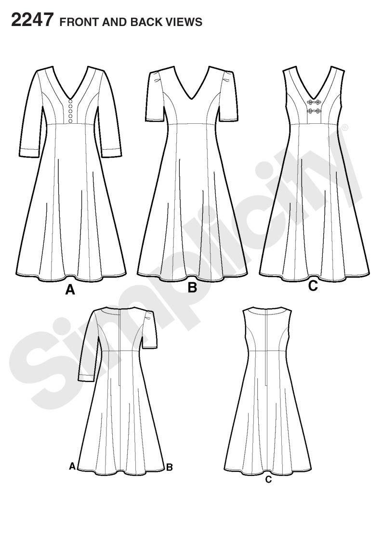 Simplicity pattern 2247: Misses\' & Plus Size Amazing Fit Dresses ...