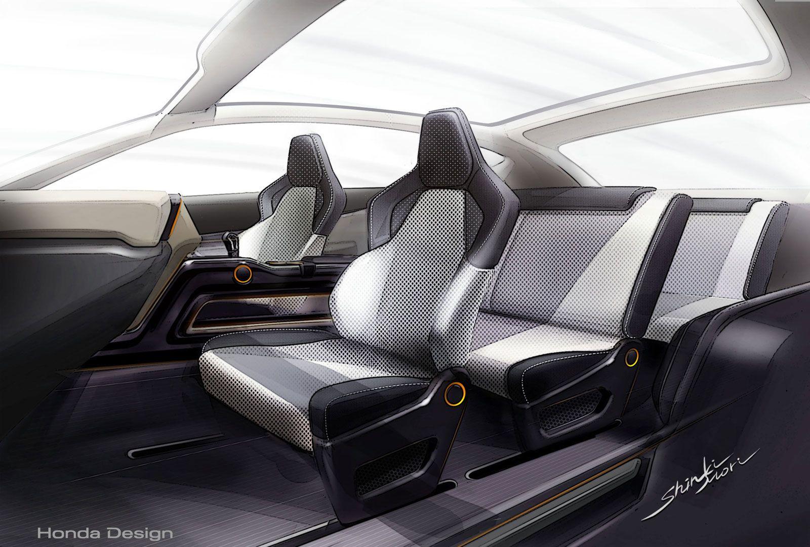 Honda Vision Xs 1 Concept Automotive Interior Sketches Pinterest