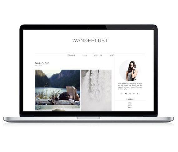 Plantilla de Wordpress Responsive  Wanderlust por LightMorangoShop