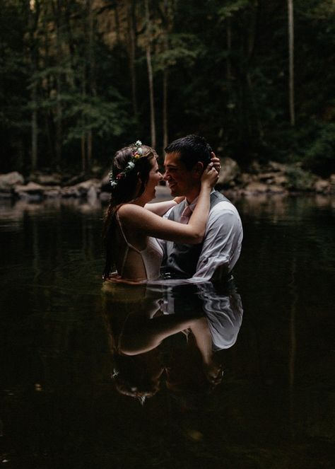 Incredibly Intimate Waterfall Elopement at Cloudland Canyon State Park