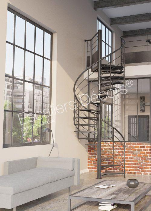 Escalier SPIR\u0027DÉCO® Kit Loft Escalier acier d\u0027intérieur hélicoïdal