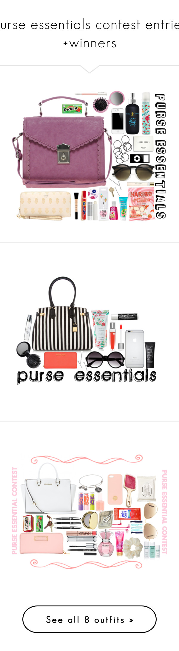 """""""purse essentials contest entries +winners"""" by fashionistaofthefuture ❤ liked on Polyvore featuring contestwitherin, moda, Bumble and bumble, Batiste, Korres, ASOS, FOSSIL, Forever 21, Nivea e H&M"""