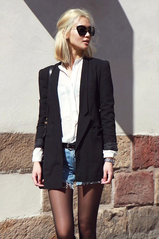 Long black blazer pinterest