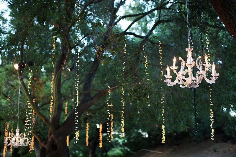 Chandelier Lights for Outdoor Weddings Party Event concepts