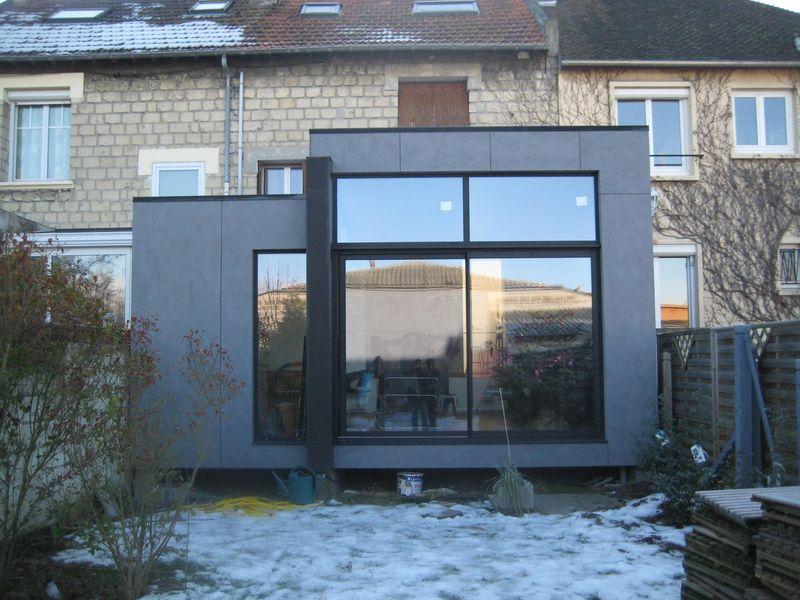 extension ossature bois r ve de cuisine dans une v randa pinterest. Black Bedroom Furniture Sets. Home Design Ideas