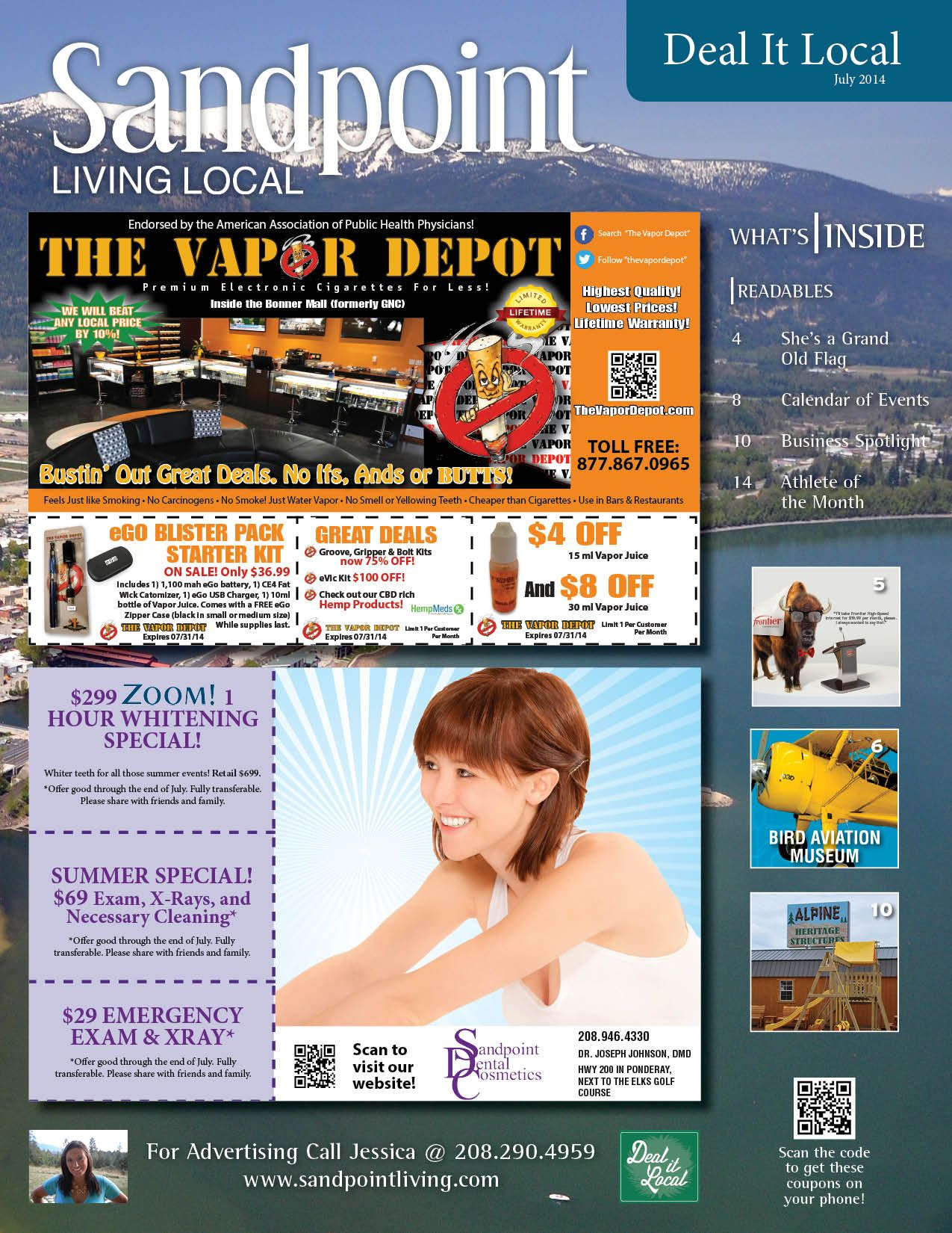 June 2014 Sandpoint Deal It Local Magazine | Sandpoint, Idaho | www.sandpointliving.com