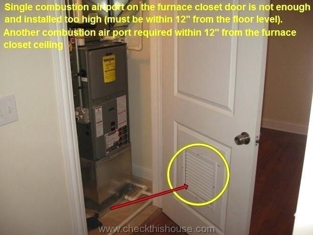 Vented Door For Furnace Room Furnace Closet Doors Louvered Door