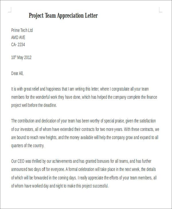 Bank Employee Appreciation Letter Team Letters Percesocine Kids