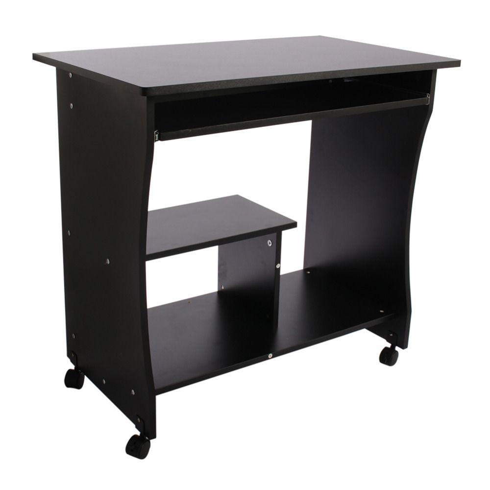 Computer pc desk wood laptop table workstation modern student home