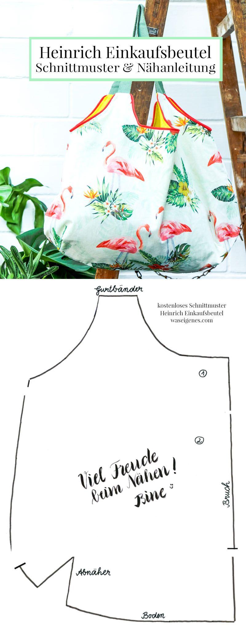 Instructions et patron de couture: sac shopping Heinrich   – DIY & Nähen von waseigenes.com