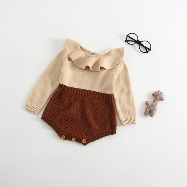 Photo of Infant Newborn Baby Rompers  Autumn Winter Warm Knit Sweater Jumpsuits  Long Sleeve Rompers Baby Girl Clothes