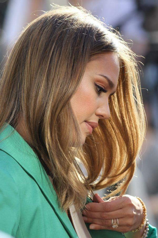 Beautiful Golden Brown Hair Color Jessica Alba Hair Pinterest