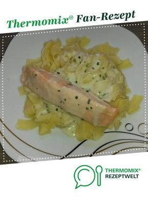 Photo of Salmon fillet with ribbon pasta
