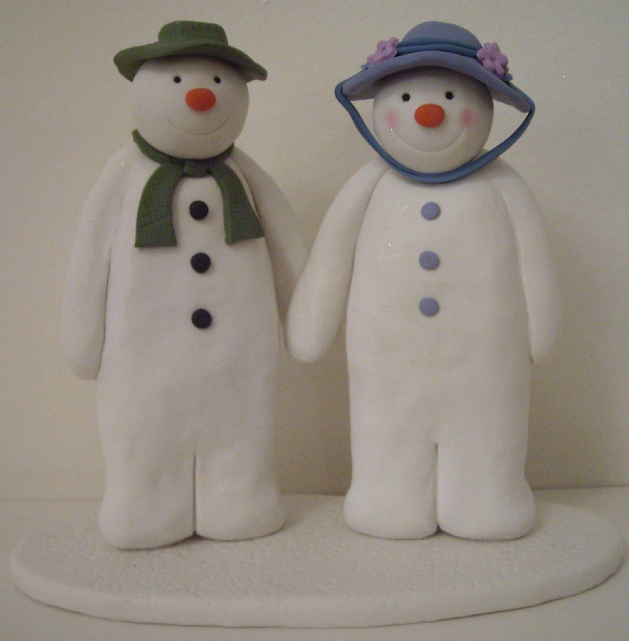 Snowman Cake Decoration Figurine The Snowman /& The Snowdog